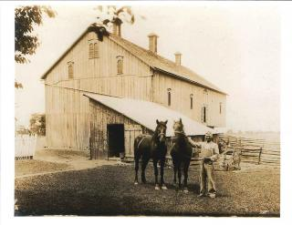 Mr. Burkholder and His Fine Draft Horses