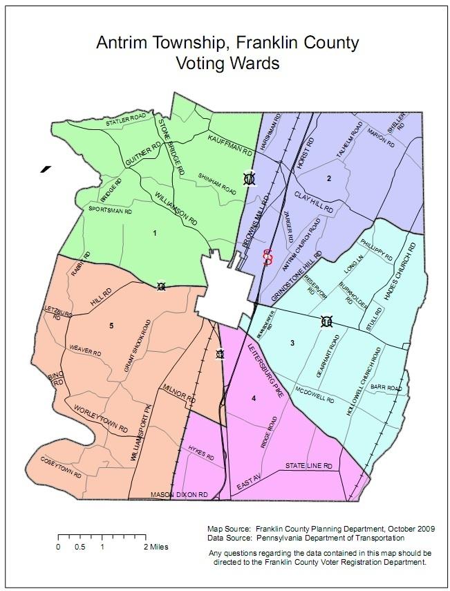 Antrim Township Voting Wards