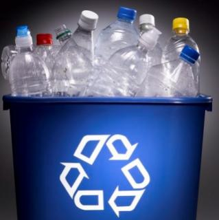 Plastic Bottles in recycle can